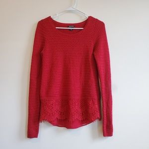 Lucky Brand Lace Knit Sweater